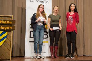 Die Siegerinnen: Annmarie Mütsch (2), Elisabetz Pähtz (1), Carmen Voicu-Jaqodzinsky (3)